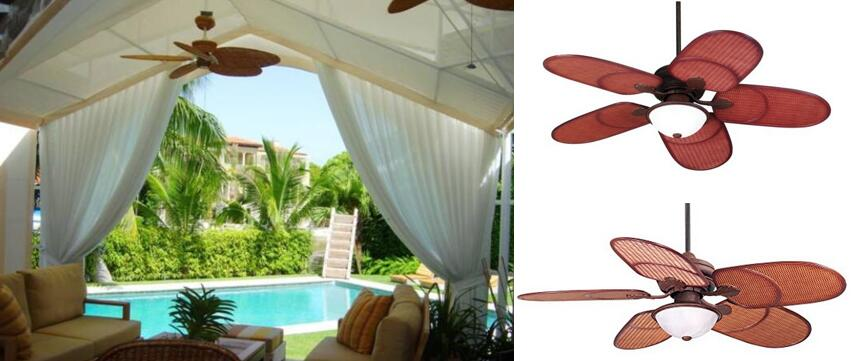 52 Casa Vieja Rattan Outdoor Tropical Ceiling Fan