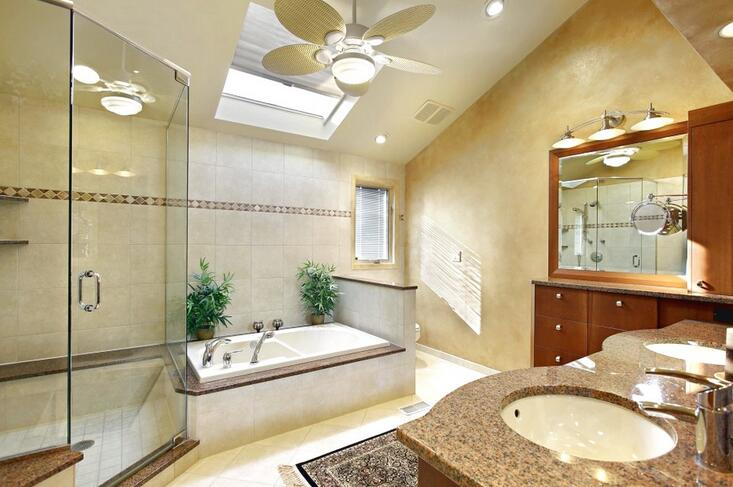 Buy Best Bathroom Ceiling Fan To Ventilate Humidity Odors - Bathroom ceiling fan installation