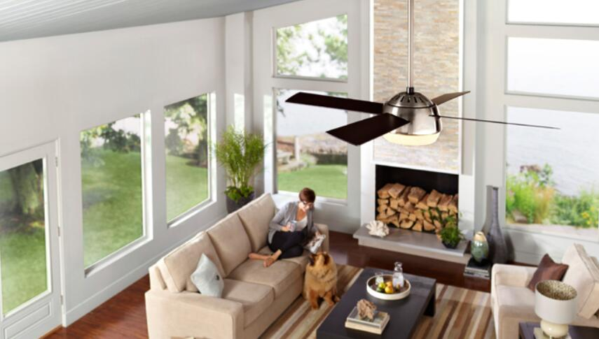 Choose right downrod ceiling fan fit different ceiling heights best ceiling fans for high ceilings aloadofball Image collections