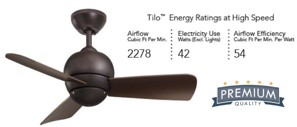 Emerson Ceiling Fans CF130ORB Tilo Modern Low Profile Hugger Indoor Outdoor Ceiling Fan