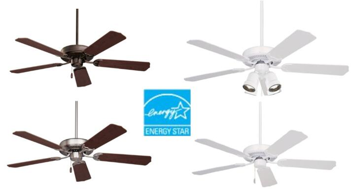 Emerson Ceiling Fans CF700WW Builder 52-Inch Energy Star Ceiling Fan under 80