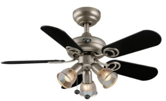 hampton bay san marino 36 inch brushed steel ceiling fan - Ceiling Fans