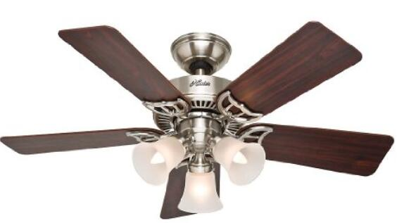 Hunter 51011 Southern Breeze 42-Inch Brushed Nickel Ceiling Fan