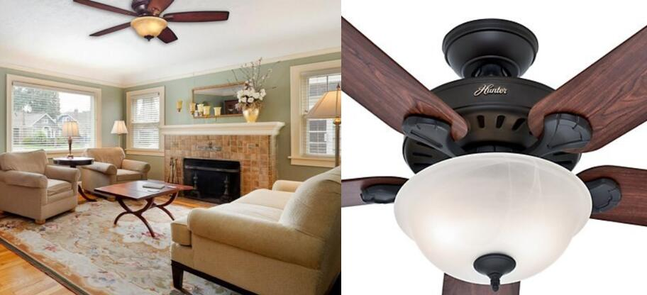 Hunter 53250 Pros Best 52 Inch 5 Blade Single Light Five Minute Ceiling Fan