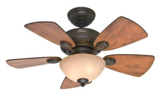 Choosing best rated ceiling fan with light and remote reviews hunter fan company 52090 watson new bronze ceiling fan 34 inch under 90 aloadofball Gallery