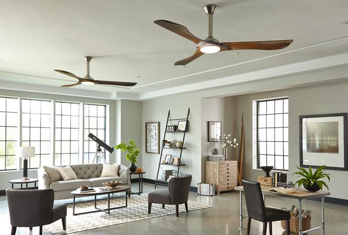 Selecting best ceiling fan fit your living room large room for Ceiling fan size for room