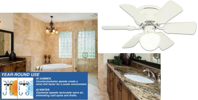 Westinghouse 78108 Petite 6-Blade 30-Inch 3-Speed Hugger-Style Ceiling Fan with Light 500s60