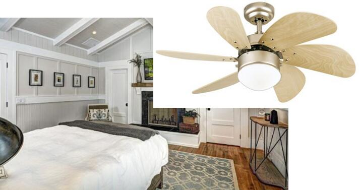 westinghouse 7814420 turbo swirl single light 30 inch six blade indoor ceiling fan - Bedroom Ceiling Fans