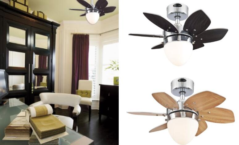 Westinghouse 7864400 Origami Single Light 24 Inch Reversible Six Blade  Indoor Ceiling Fan