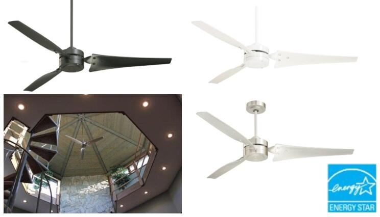 Emerson Ceiling Fans CF765BS Loft Modern Indoor Ceiling Fan With Wall  Control Energy Star