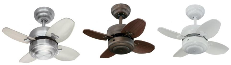 Monte Carlo 4MC20WH Mini Ceiling Fan 20 inch