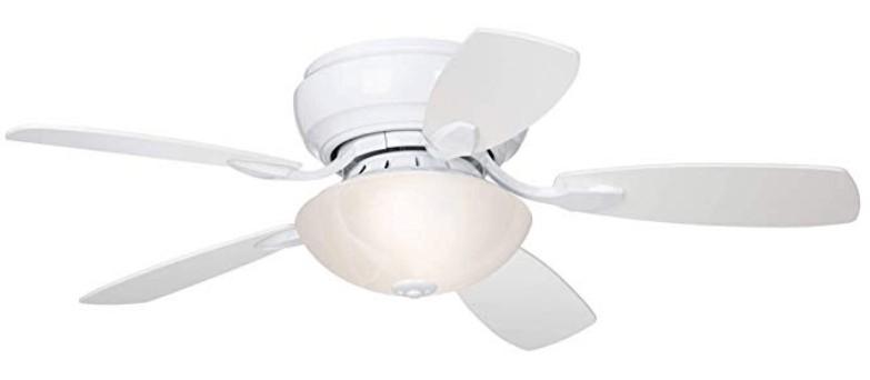 Best White LED Ceiling Fan - Casa Vieja 44-inch Hugger Ceiling Fan