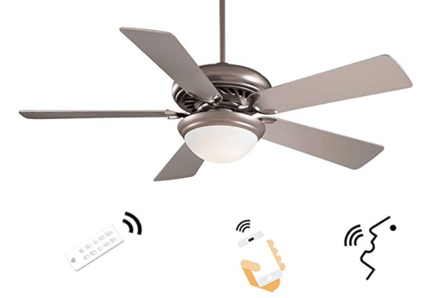 Best Price - Minka-Aire Smart Wi-Fi Ceiling Fan with Light & Remote Control