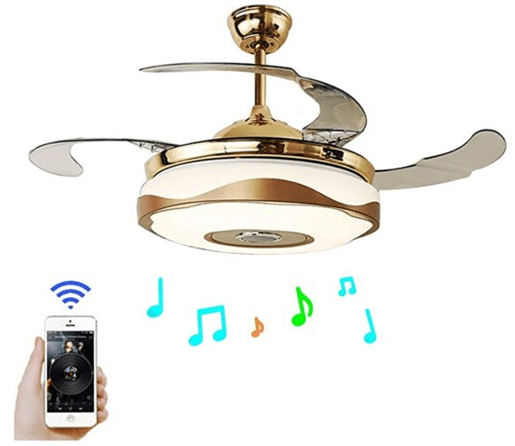 Bluetooth Player - Fandian Modern Smart Bluetooth Ceiling Fans with Light