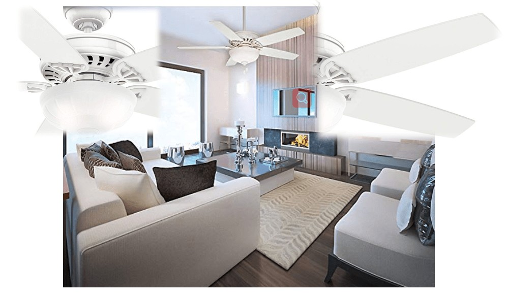 Casablanca 54-Inch Snow White Quiet Ceiling Fan For Bedroom