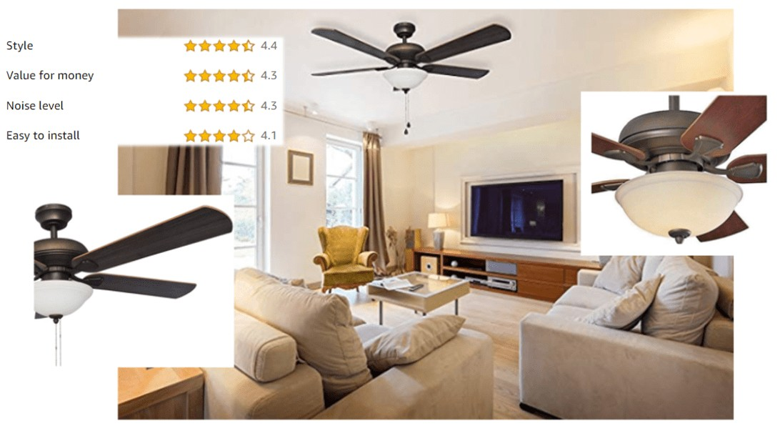 Best Energy Efficient Ultra Quiet LED Ceiling Fan For Bedroom