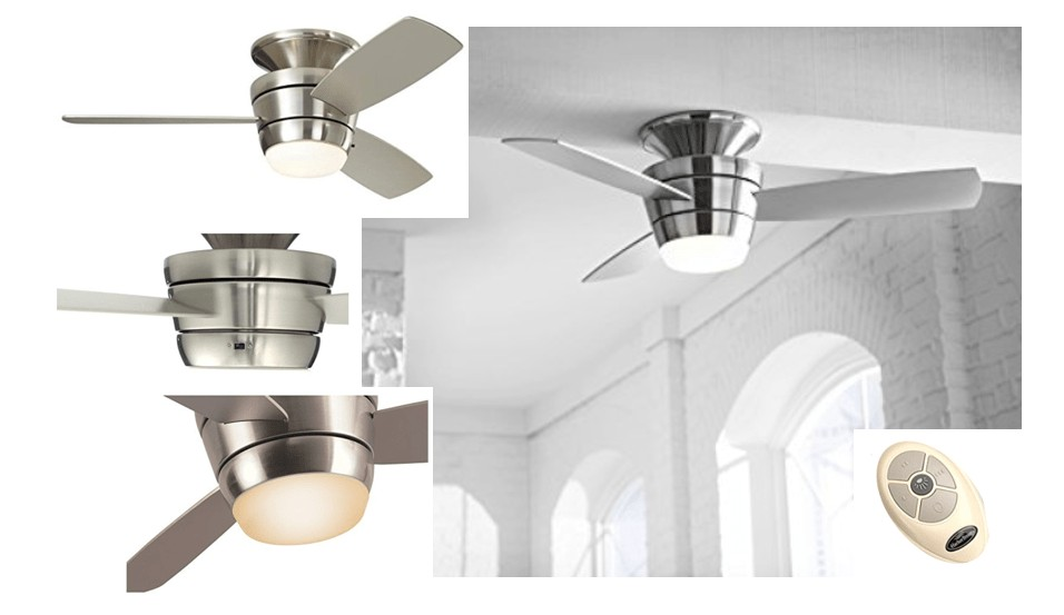 Harbor Breeze Flush Mount Contemporary Large Ceiling Fan For Small Room