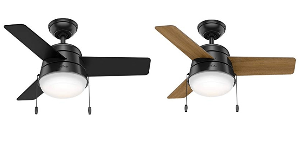 Hunter Aker 36-inch Small Ceiling Fan With Light For Bedroom/Kitchen