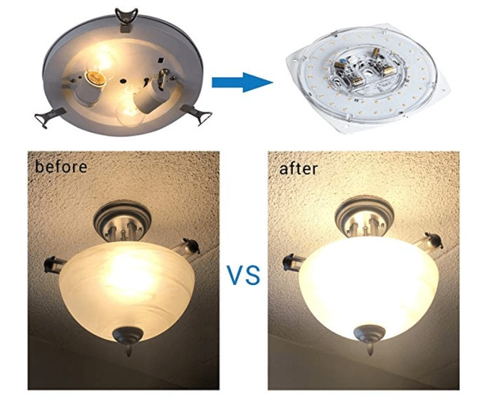 Best Selling LED Ceiling Fan Light Kit - Silverlite17W Dimmable LEDLight Kit
