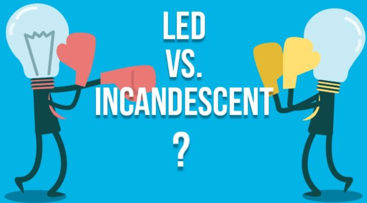 choose LED lights or incandescent lights?