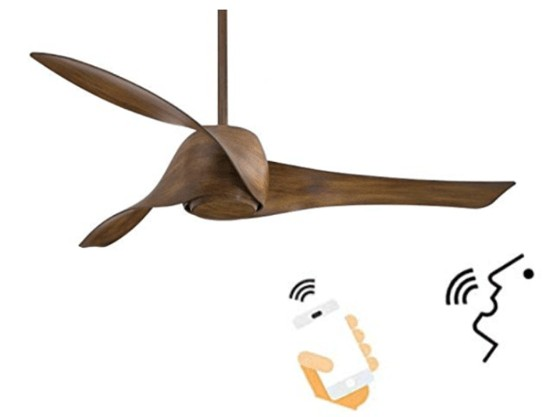 Top-Rated - Minka-Aire Smart Alexa Ceiling Fan For Living Room
