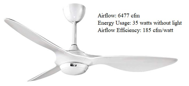 High output mute ceiling fan with light and remote