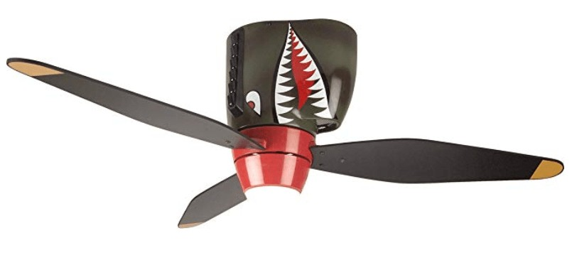 The Craftmade Tiger Shark Warplane Kids Airplane Ceiling Fan