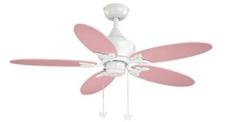 The Hunter 'Space Discovery' Kids Ceiling Fan with Earth Light & Moon Blades
