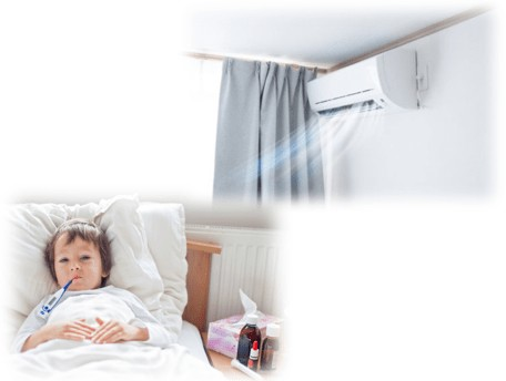 air conditioner more likely make children ill