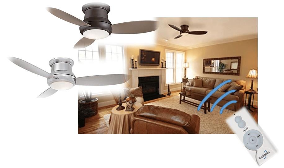 hugger fan led ceiling fan with remote