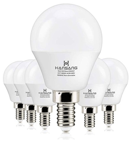 LED Ceiling Fan bulbs For Ceiling Fan - 6 watts(60w Equivalent) Hansang LED Bulbs