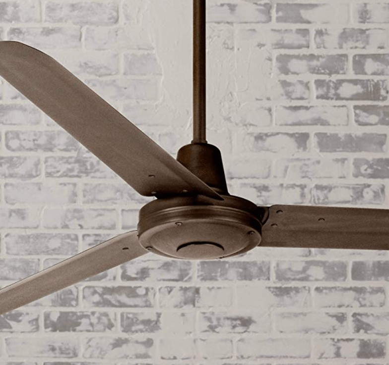 Casa Vieja Modern Industrial Outdoor Ceiling Fan with Light Remote Control