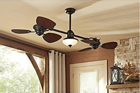 Harbor Breeze Twin Breeze Dual Outdoor Downrod Ceiling Fan