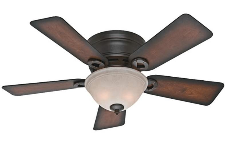 Best Low Profile - Hunter 44-inch Small Ceiling Fan with Light and Remote