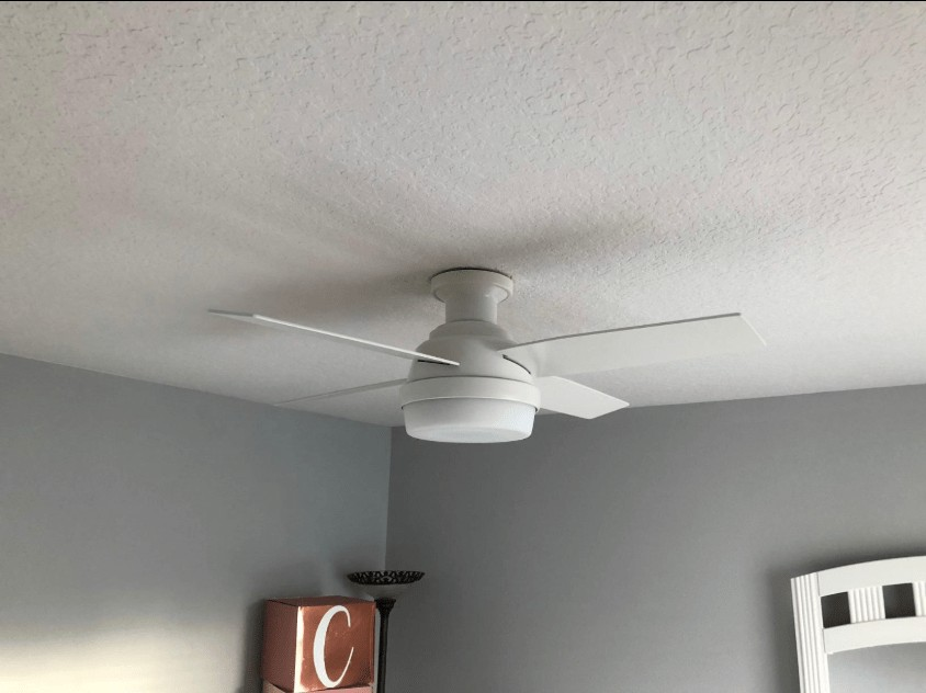 Best for Low Ceiling - Hunter Low Profile Ceiling Fan with Light and Remote