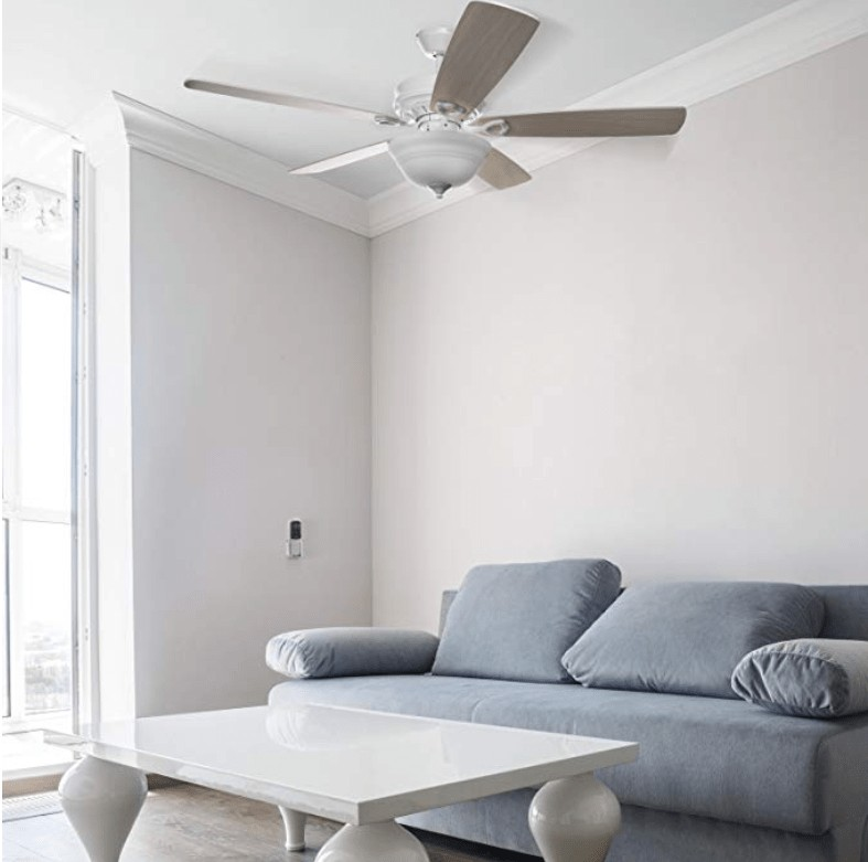 Best Overall - Hyperikon Indoor White Ceiling Fan with Light and Remote