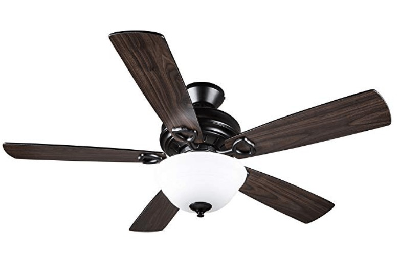 Hyperikon 42-Inch Black Indoor Ceiling Fan with Light Kit and Remote Control