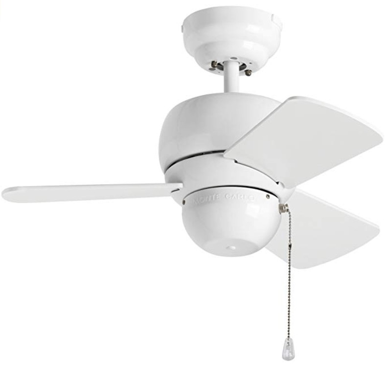 Monte Carlo White 24-inch Ceiling Fan