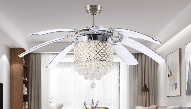 best modern crystal ceiling fan for home