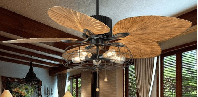 tropical ceiling fan with lights