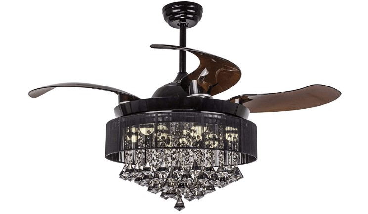 best crystal ceiling fans with lights
