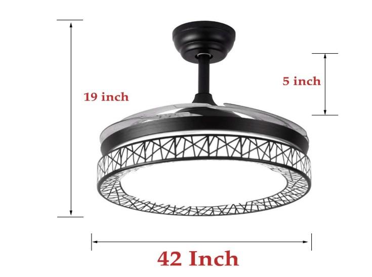 vest looking modern ceiling fan with light