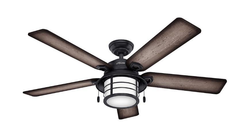 Hunter outdoor ceiling fan for low ceilings