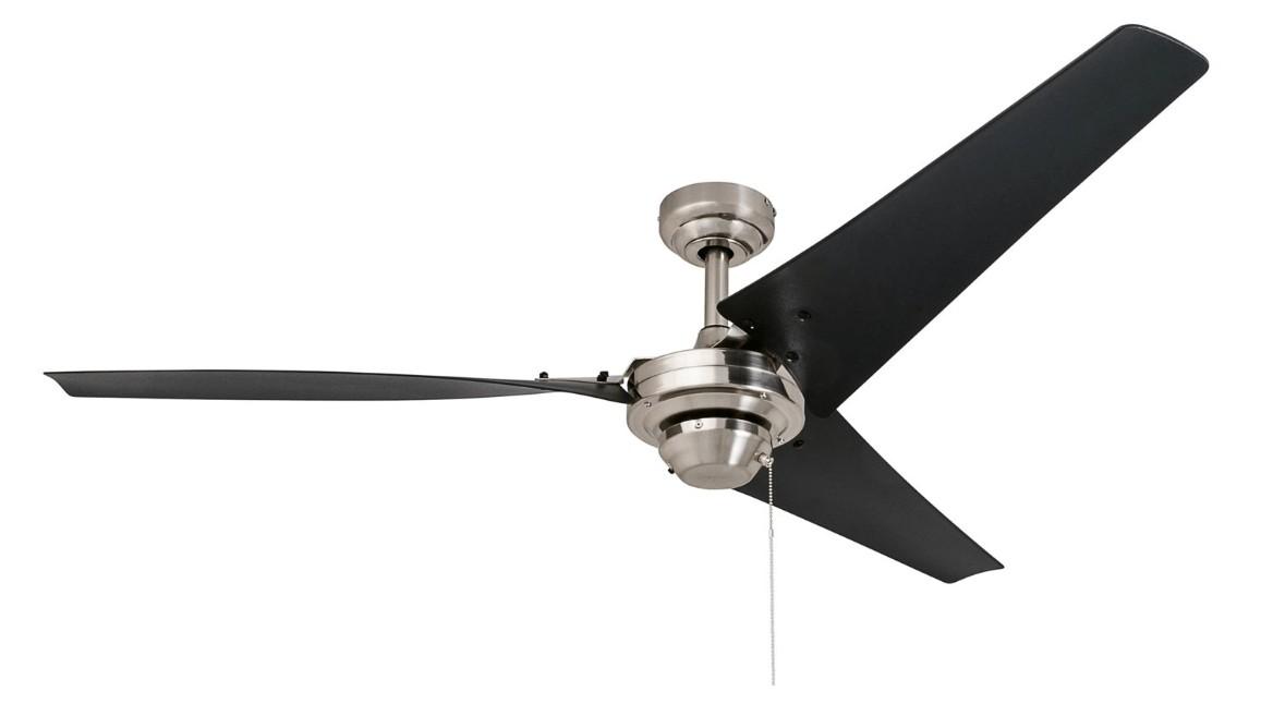 best black ceiling fan without light