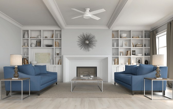 best hunter flush mount ceiling fan with remote control