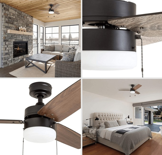 bedroom ceiling fans with remote