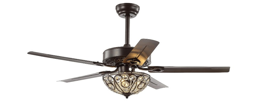best crystal ceiling fan