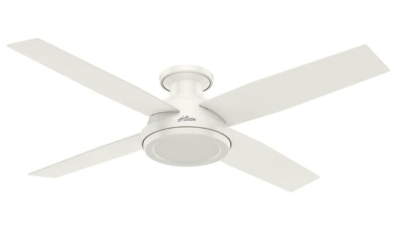 low profile ceiling fan with light and remote