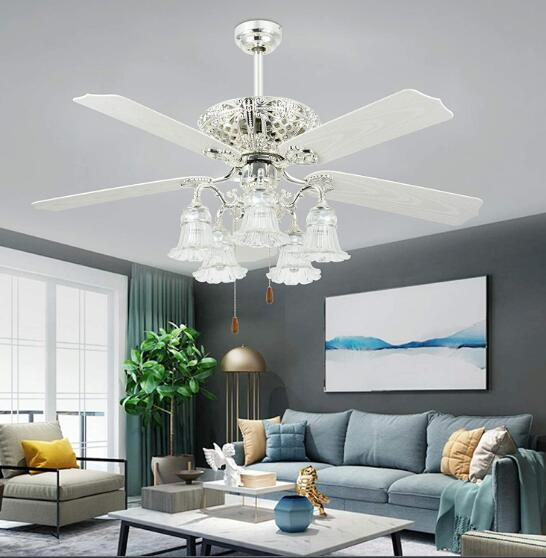 2 ceiling fans in living room