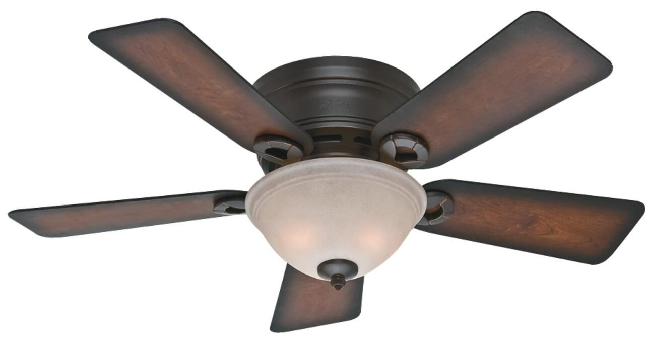 42 inch flush mount ceiling fan with light